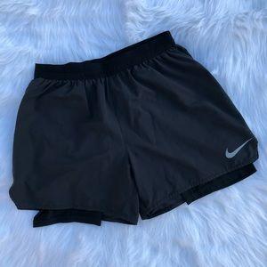 Nike Black Layered Running Shorts